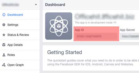 facebook application ID