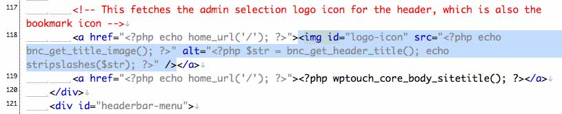 WTPtouchタイトルアイコンの削除